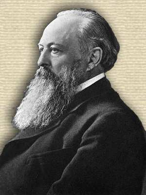 Photo of Lord Acton, upper body, facing left, late in life with long beard