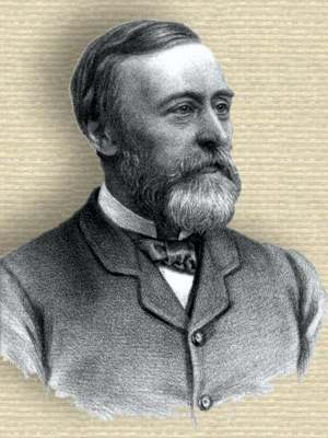 Engraving of Thomas Clifford Allbutt, head and shoulders, facing right