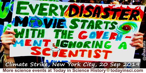 Anonymous quote: Every disaster movie starts with the Government ignoring a scientist.