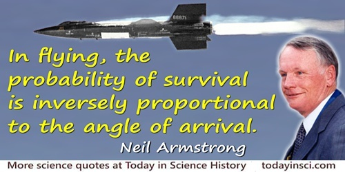 Neil Armstrong quote Probability of survival