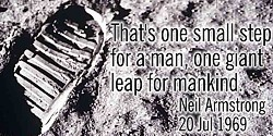Neil Armstrong quote One small step
