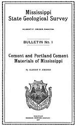 Mississippi State Geological Survey  (1907) - Bulletin 1 - Cover