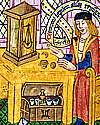 Thumbnail detail from illustration in The Ordinal of Alchemy c.1477, British Library