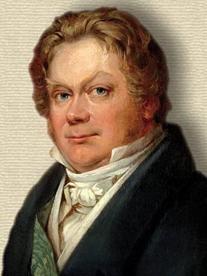 Portrait of Jons Jacob Berzelius, colour, head and shoulders