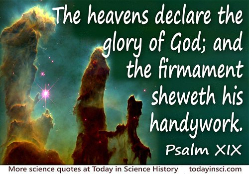 Bible quote The heavens declare the glory of God