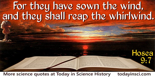 Bible Quotes 91 Science Quotes Dictionary Of Science Quotations