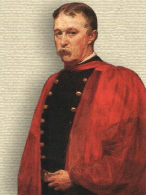 Portrait of John Shaw Billings in military coat, upper body, facing front
