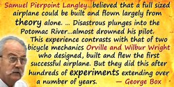 George E.P. Box quote: Samuel Pierpoint Langley, at that time regarded as one of the most distinguished scientists in