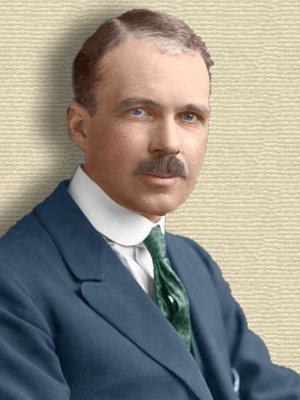 Photo of William Lawrence Bragg - colorization © todayinsci.com