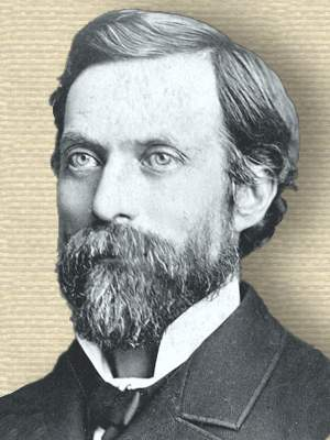 Photo of George P. Brown head, facing left