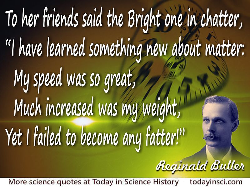A. H. Reginald Buller quote To her friends said the Bright one in chatter