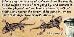 John Burroughs quote Evolution