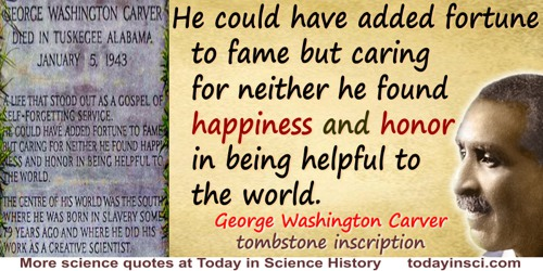 George Washington Carver quote: A life that stood out as a gospel of self-forgetting service
