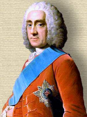 Portrait of Lord Chesterfield, head and shoulders, facing left