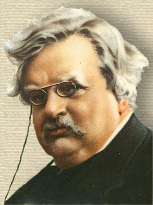 G.K. Chesterton - Face - portrait from Wills's Cigarettes card