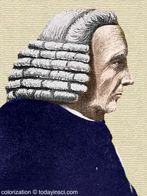 Sketch of William Cookworthy - head and shoulders, side view- colorization © todayinsci.com