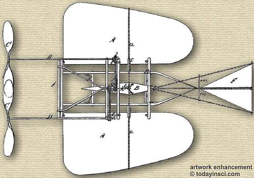 Figure 2 for Luther Crowell patent 35437 Aerial Machine