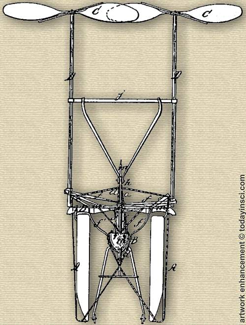 Figure 3 for Luther Crowell patent 35437 Aerial Machine