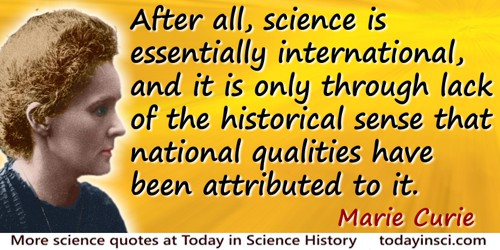Larry Wall Science Quotes: Marie Curie Quotes