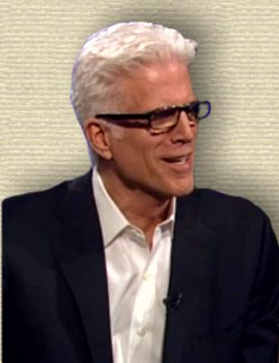 Video still of Ted Danson, head and shoulders, facing right
