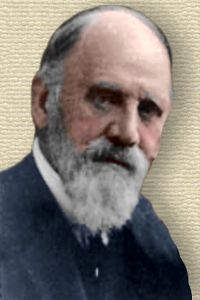 Photo of Francis Darwin - Face - colorization © todayinsci.com