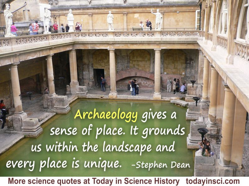 Stephen Dean quote Archaeology gives a sense of place. Photo credit: juliaavisphillips