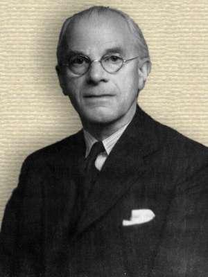 Photo of Herbert Dingle, upper body, facing forward