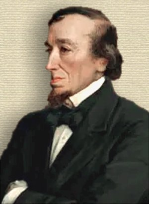 Painting of Benjamin Disraeli, upper body, arms folded, facing left