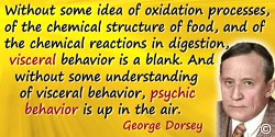 George A. Dorsey quote: Without some idea of oxidation processes, of the chemical structure of food, and of the chemical reactio