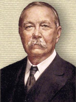 Portrait of Arthur Conan Doyle - head and shoulders