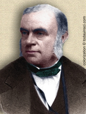 John William Draper - head and shoulders - colorization © todayinsci.com