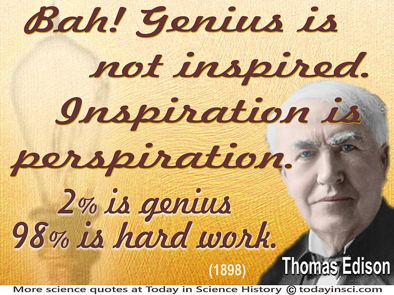 Thomas Edison Quotes 60 Science Quotes Dictionary Of Science Cool Thomas Edison Quotes