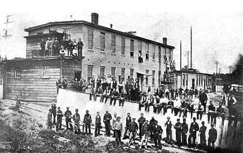 First Edison incandescent lamp factory at Menlo Park, N.J.