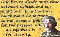 Albert Einstein quote An equation is for eternity