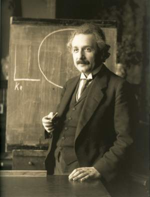 Albert Einstein, Lecturing in Vienna, 1921.