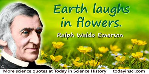 Ralph Waldo Emerson quote: Earth laughs in flowers.
