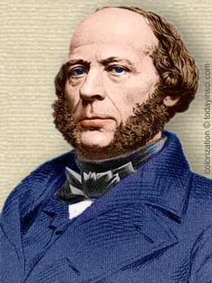 John Ericsson, engraving head and shoulders - colorization © todayinsci.com