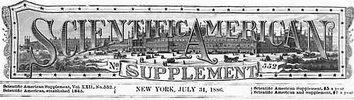 Scientific American Supplement 552 Logo