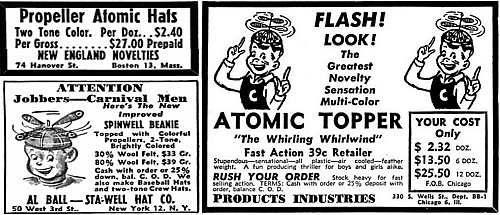 Advertisements for Propeller Beanies from Billboard Magazine (12 Jun 1948)
