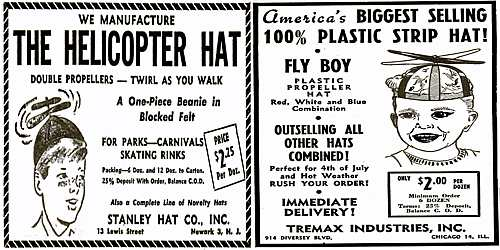 523ba92111f Advertisements for Propeller Beanies from Billboard Magazine (19 Jun 1948)