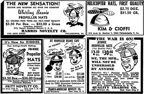 Advertisements for Propeller Beanies from Billboard Magazine (5 Jun 1948)