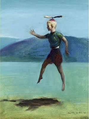Boy With a Propeller Beanie (1948) by Guy Pène du Bois