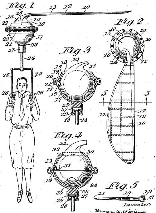 Patent No. 1,799,664 diagrams, Safety Drop Device For Aviators' Use