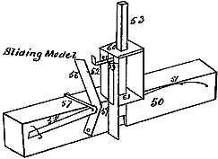 Line drawing for detail of Sliding Model