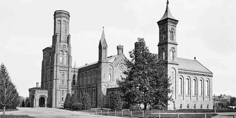 Photo of the Smithsonian Institution building exterior