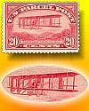 Thumbnail - First airplane stamp design