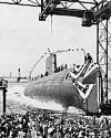 Thumbnail - U.S.S. Nautilus, first nuclear submarine launched