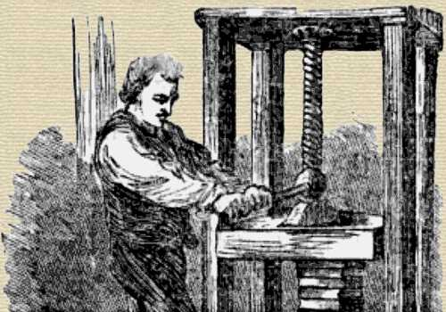 Book Press Engraving