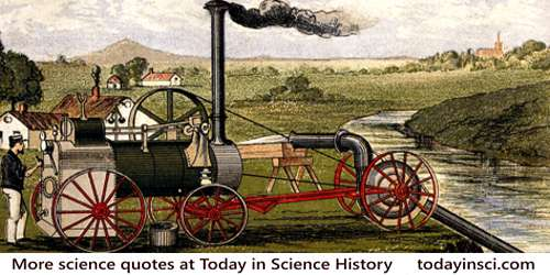 Coloured lithograph, steam engine & pump irrigating field.  Wellcome Library, London CC BY 4.0. ICV No 24929BL
