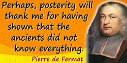 Pierre de Fermat quote